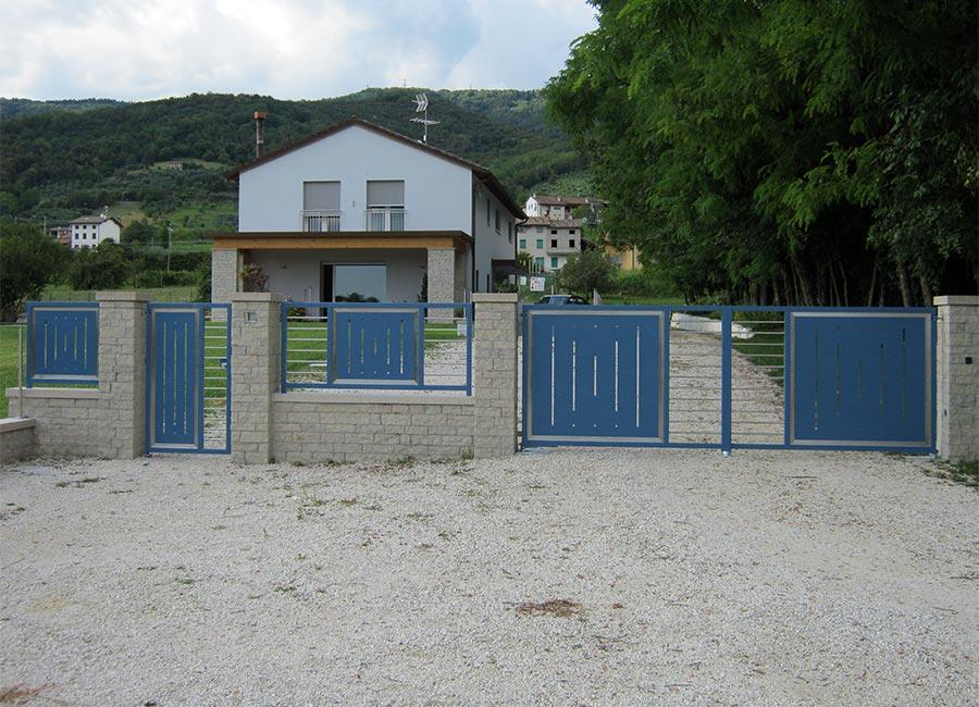 Cancelli e recinzione con elementi inox